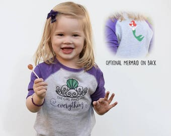 The girl who Has Everything Mermaid Shirt. Dinglehopper hair don't care. Toddler and Youth sizes. Mermaid Vibes. Mermaid hair, don't care.