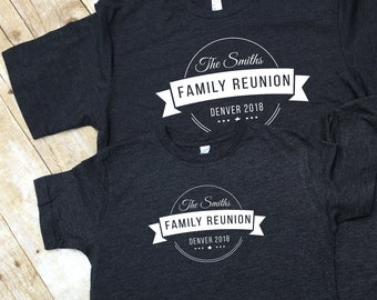 Family Reunion shirts. Personalized Family Vacation Shirts. Customizable family reunion shirts. Reunion shirts