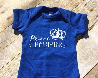 Prince Charming infant bodysuit. Cinderella shirt. Vacation shirt. Boys Cinderella shirt. Prince charming. Charming Baby