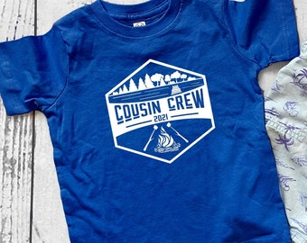 Cousin Crew Vacation shirt. Campfire and Smores at the lake. The Original Cousin Crew Shirts. Name and numbers are extra! Sizes NB -3XL