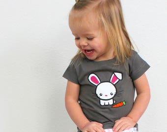 Bunny shirt.  Kawaii Bunny. Cute Easter shirt. Girls easter shirt. Boys easter shirt. Bunny lover. Easter Bunny Shirt.