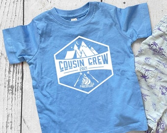 Cousin Crew Camping shirt. Campfire and Smores. The Original Cousin Crew Shirts. Name and numbers are extra! link in info. Sizes NB -3XL