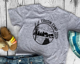Cousin Camp 2021 shirt. Cousin Crew Lake Vacation. The Original Cousin Crew Shirts. Name and numbers are extra! link in info. Sizes NB -3XL