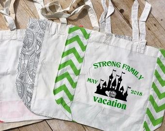Personalized Family Vacation Bag. Family Vacation Bag. Family Vacation Tote. Cruise Tote. Customizable Tote Bag Vacation Announcement