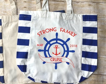 Personalized Family Cruise Bag. Family Vacation Bag.  Family Vacation Tote. Cruise Tote. Customizable Tote Bag Vacation Announcement
