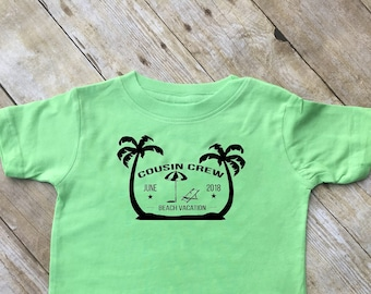 Cousin Crew Beach Vacation shirts. Ships in 4-6 Business days! Customizable family vacation shirts. Beach Vacation. Reunion shirts