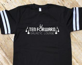 Trekkie Gift. Ten Forward Galactic Lounge shirt. Fandom shirt. Father's day gift. Nerdy Dad Gift. Trekkie Shirt.