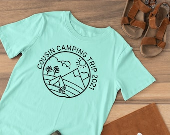 Cousin Crew Camping shirt. Tent or Cabin. The Original Cousin Crew Shirts. Name and numbers are extra! link in info. 24 colors sizes NB -3XL