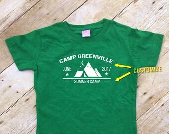 Summer Camp shirts. Family Vacation Shirts. 3 or more shirts. Customizable family vacation shirts. Camp Shirts. Camping shirts.