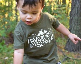 Adventure Seeker. Adventure shirt.  Adventure Awaits Mountain shirt. Aadventure  shirt. Adventure begins here.