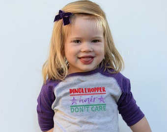 Mermaid Shirt. Dinglehopper hair don't care. Mermaid top. Toddler and Youth sizes. Mermaid Vibes. Mermaid hair, don't care.