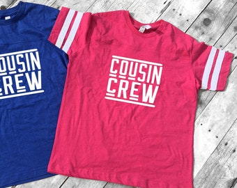 Hot Pink Cousin Crew team shirt with Name & Number on Back. The original Cousin Crew Personalized shirt. Family reunion shirts. Hot Pink