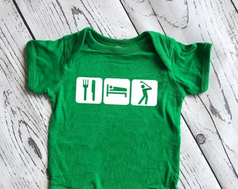 Eat, Sleep Golf. New dad gift. Father's Day gift. Golfer gift. Infant, toddler and youth sizes!