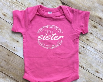 Little Sister shirt or one piece. Pregnancy announcement. Family shirt set. All sizes. I'm going to be a big brother.