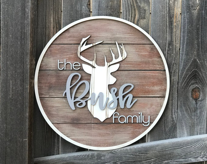 """Featured listing image: Personalised Family name sign 