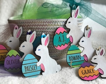 Personalized Easter Basket Tag | Easter Tag | Easter gift | Easter Decor | Easter Craft | Kids Easter Basket | Wooden Easter tag