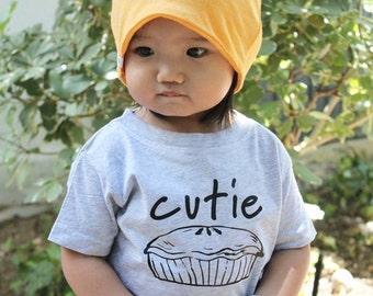 Cutie Pie. Cutie pie shirt. Cute toddler shirt. Toddler girls shirt. Foodie shirt.  Pie shirt. Cute girls clothing.