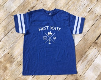 First Mate Shirt. First mate shirt or one piece. Captain and first mate shirts. Daddy and me sets. Matching shirts.