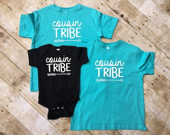 Cousin Tribe shirts. Cousin Crew. Cousin Squad. Ships in 4-6 business days! Family shirt set. All sizes. Cousins Best Friends