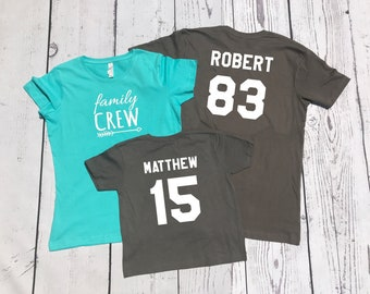 Personalized Family Crew shirt. Name and Birth Year Family Crew shirts. Cousin Crew. Family tribe. All sizes. Ships in 4-6 Business days!