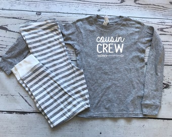 Cousin Crew Pajamas. The Original Cousin Crew Youth sizes 8, 10, 12 and 14. Cousin Pajama sets. Family Reunion Shirts