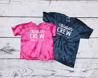 Cousin Crew Tie Dye Shirt. The original Cousin crew shirt. DOES NOT include NAME or Number to add click Link in item description!