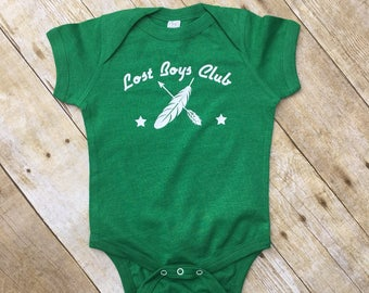 Lost boys Club. Lost Boys infant bodysuit. Peter Pan Never Grow Up. Peter Pan Baby.  Lost boys one-piece. Never Grow up. Fast shipping!