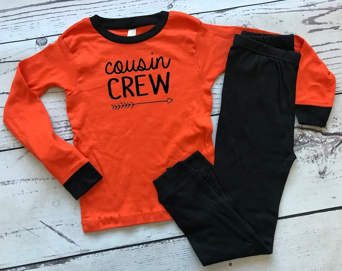 Featured listing image: Cousin Crew Pajamas. The Original Cousin Crew Infant and toddler sizes 6 months - 5/6 Cousin Pajama sets. Family Reunion Shirts