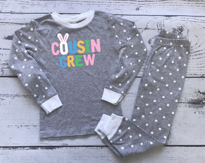 Featured listing image: Easter Cousin Crew Pajamas. The Original Cousin Crew Infant, Toddler and Youth sizes. Cousin Pajama sets. Family Reunion Shirts
