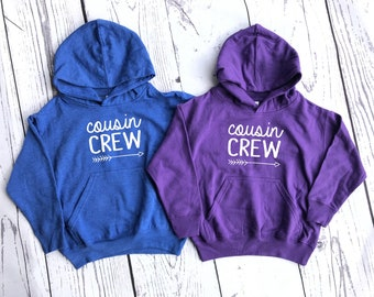 The Original Cousin Crew Sweatshirt. More Colors Available! Cousin Squad or Cousin tribe. NAMES / NUMBER is Extra: link in item description!