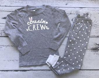 Easter Cousin Crew Pajamas. The Original Cousin Crew Infant toddler and youth sizes. Cousin Pajama sets. Family Reunion Shirts