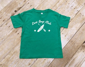 Lost boys club. Infant, Toddler and Youth sizes. Lost Boys shirt. Peter Pan never grow up. Lost boys club.  Fast shipping!