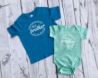 Little Brother shirt or one piece. Pregnancy announcement. Family shirt set. All sizes. I'm going to be a big brother.