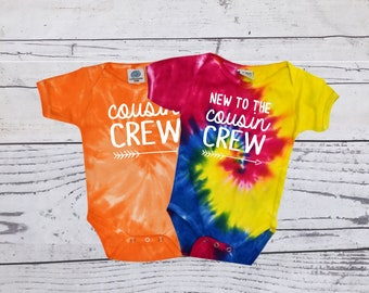 Cousin Crew Tie Dye bodysuit. The original Cousin crew shirts. DOES NOT include NAME or Number Link in item description!
