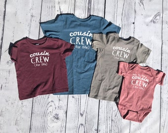 Cousin Crew (for life) Shirt. The original Cousin crew shirt. DOES NOT include NAME or Number to add click Link in item description!