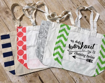 My Daily Workout is Chasing Twins. Twin mom Bag. Tote Bag. Market Tote. Farmers market bag. Canvas Tote. Reusable bag. Shopping bag.