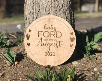 Pregnanacy Announcement | Baby Annoncement Prop |  New baby Gift | Nursery Decor | Gender Reveal Announcement | Baby Name Announcement