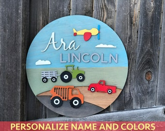 "18"" 20"" or 22"" Round Name Plaque 