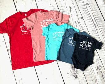 Cousin Crew Beach Vacation shirts. Family Vacation Shirts. Customizable family vacation shirts. Camping shirts. Reunion shirts