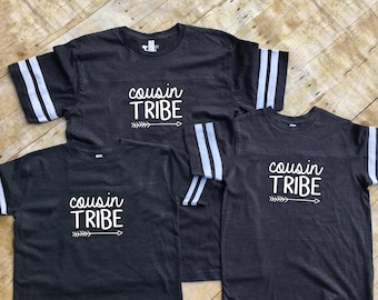 Cousin Tribe shirts. Cousin Crew. Cousin Squad. Ships in 4-6 business days! Family Football shirt set. Cousins Best Friends