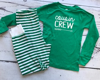 Infant and Toddler Cousin Crew Pajamas. The Original Cousin Crew Pajamas 6 months - 5/6 Cousin Pajama sets. Family Reunion Shirts