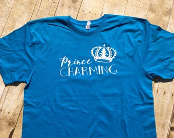 Prince Charming shirt, Adult sizes. Cinderella shirt. Cruise Vacation shirt. Boys Cinderella shirt. Mens Cinderella shirt. Prince charming.