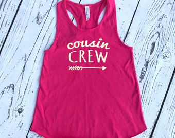 Cousin Crew Beach Vacation tank top. The Origional Cousin Crew shirts. Family Reunion shirt. Family shirt set. Girls and Ladies sizes