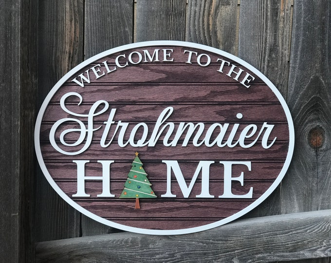 """Featured listing image: Interchangeable Personalized welcome sign 