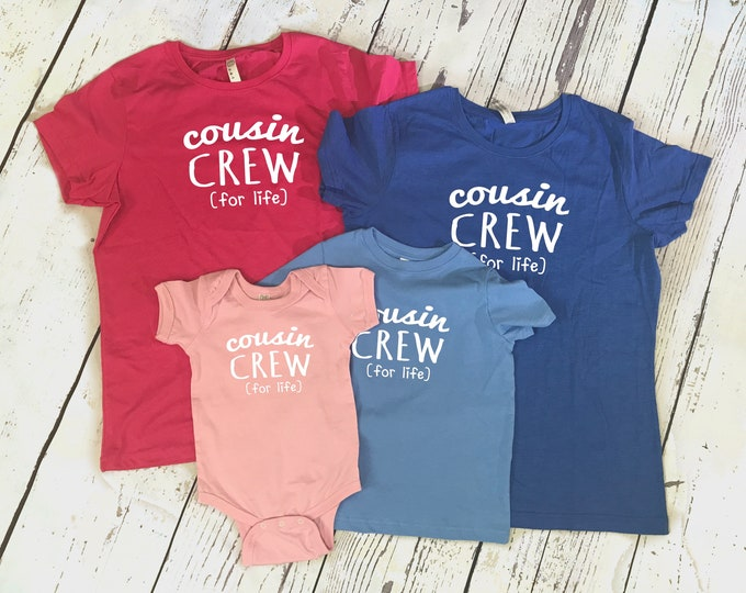 Featured listing image: Cousin Crew (for life) Shirt. The original Cousin crew shirt. DOES NOT include NAME or Number to add click Link in item description!
