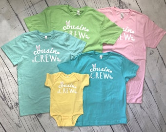 Easter Cousin Crew Shirts. The original cousin crew shirts. Names and numbers are extra: link in item description! Fast shipping!