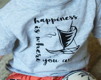 Happiness is where you are Infant, Toddler and Youth shirt. Moana, Ocean shirt. Vacation shirt. Moana kids shirt. Ocean Baby.