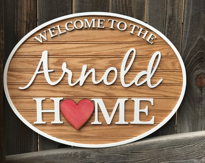 "Featured listing image: Interchangeable Personalized welcome sign | welcome to our home 15"" by 20"" 