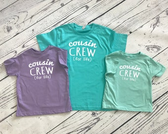 Cousin Crew (for life) Shirts. The original Cousin crew shirt. NAMES and NUMBERS are Extra: link in item description!