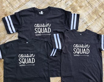 Cousin Squad. Cousin Crew shirts. Cousin Tribe shirts. Cousin Squad shirts. Cousin tribe. Family Football shirt set. Cousin Best Friends